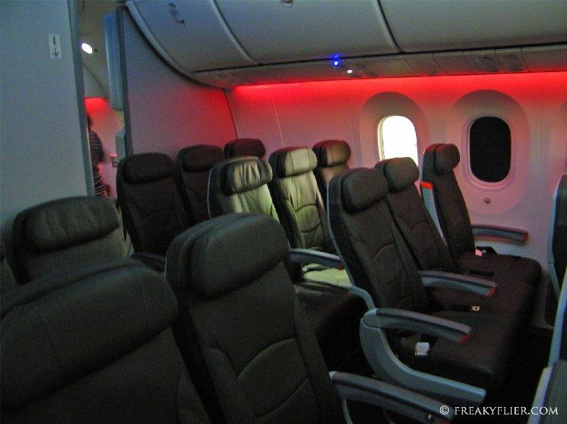 Discreet forward economy cabin