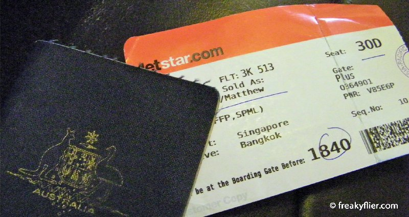 Boarding pass for seat 30D - last row aisle seat