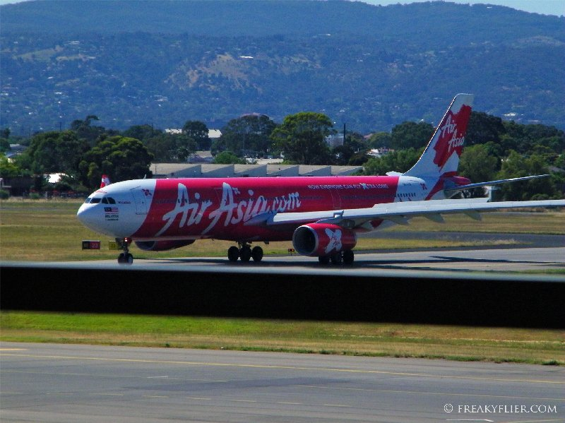 Air Asia Airbus a330-300 Arrives at Adelaide Airport