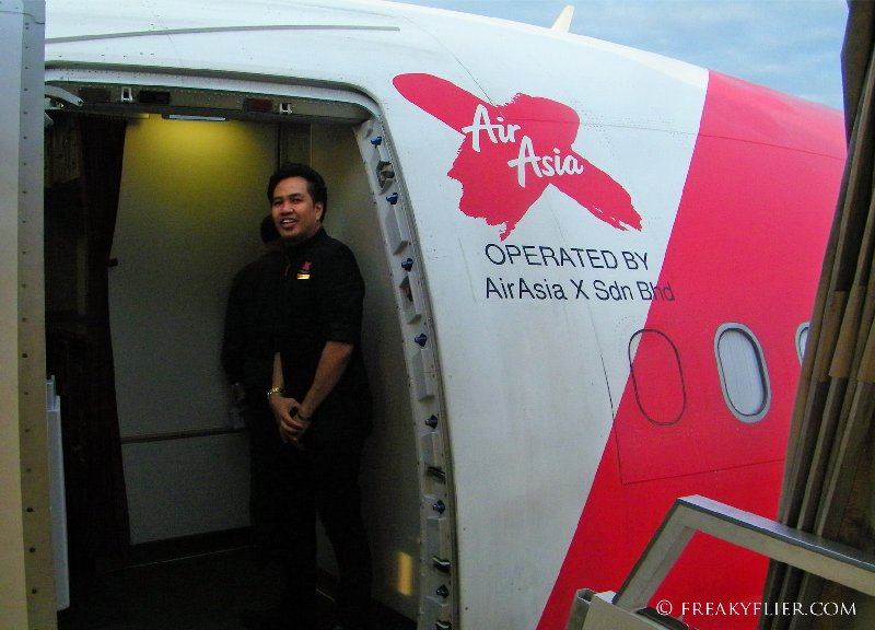 A warm welcome aboard Air Asia X