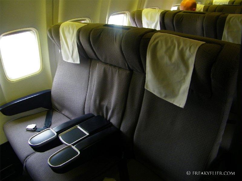 Row 4 Business Class on Qantas Airways 737-400