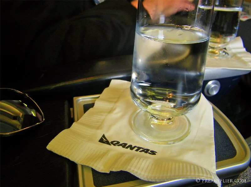 Iced water prior to takeoff