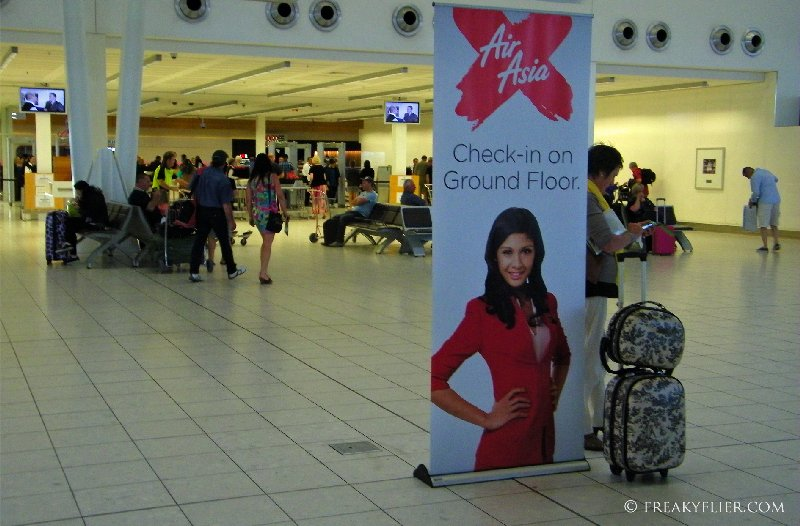 Check-in was on the ground floor in the arrivals hall next to the baggage carousels