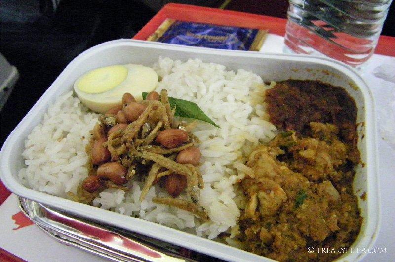 Nasi Lemak, chicken rendang an ikan bilis