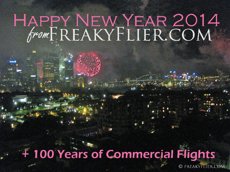 Happy New Year 2014 from FreakyFlier.com + 100 Years of Commercial Flights