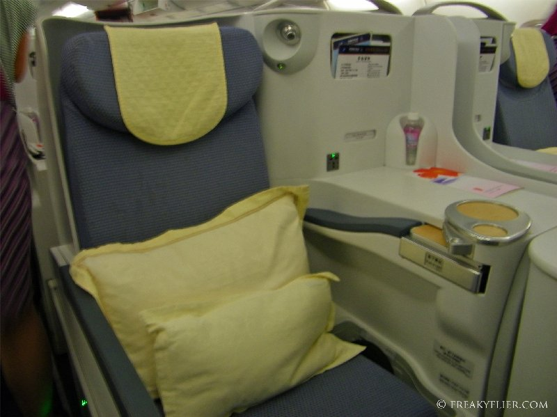 Business Class on the upper deck of the A380