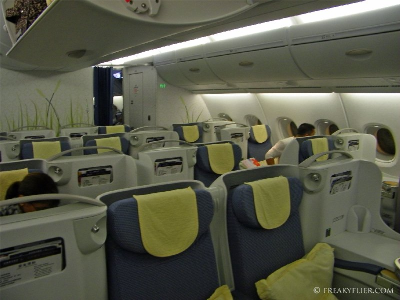 Upper deck Business Class cabin on China Southern's a380