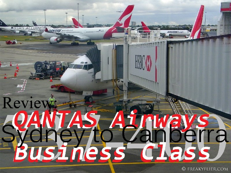 Review: QANTAS Airways - Sydney to Canberra Business Class - 737-400