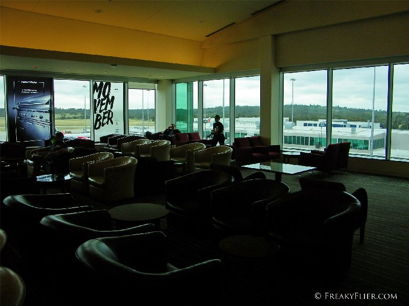 Floor to ceiling windows overlooking the apron
