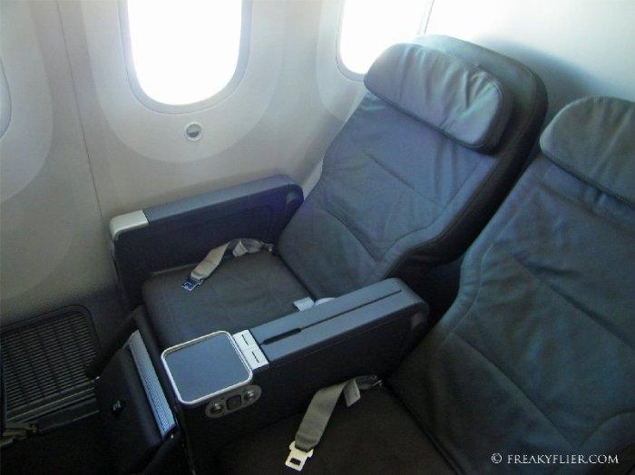 Business Class seats 3G (aisle) and 3J (window)