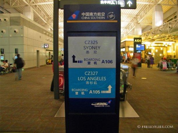 Sydney A380 flights depart from gate A106