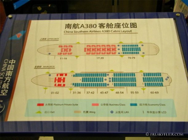 Aircraft maps help passengers locate their seating zone and which door to board through