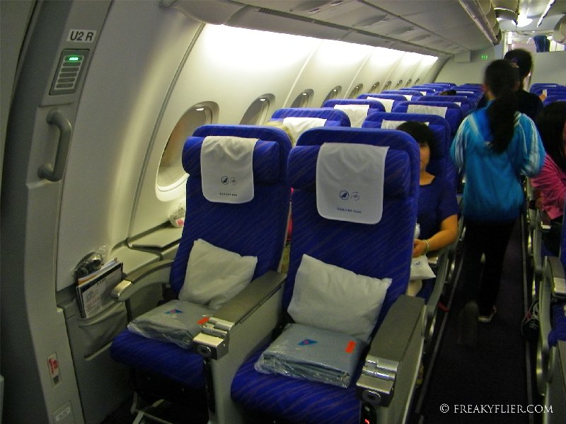 Economy Class seating on the upper deck on China Southern A380