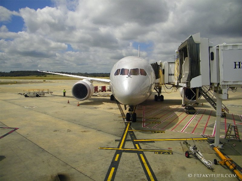 Jetstar Airways first Boeing 787 Dreamliner at Melbournes Tullamarine Airport