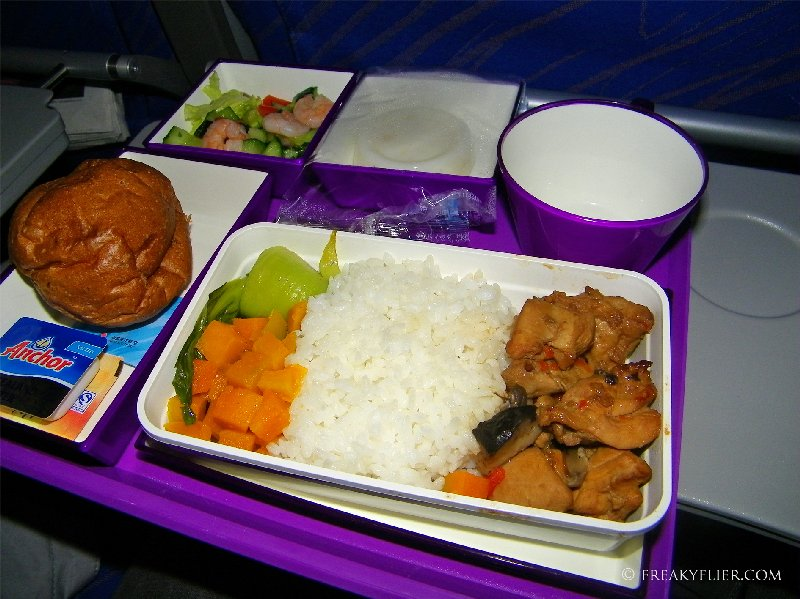 Dinner onboard China Southern Airlines