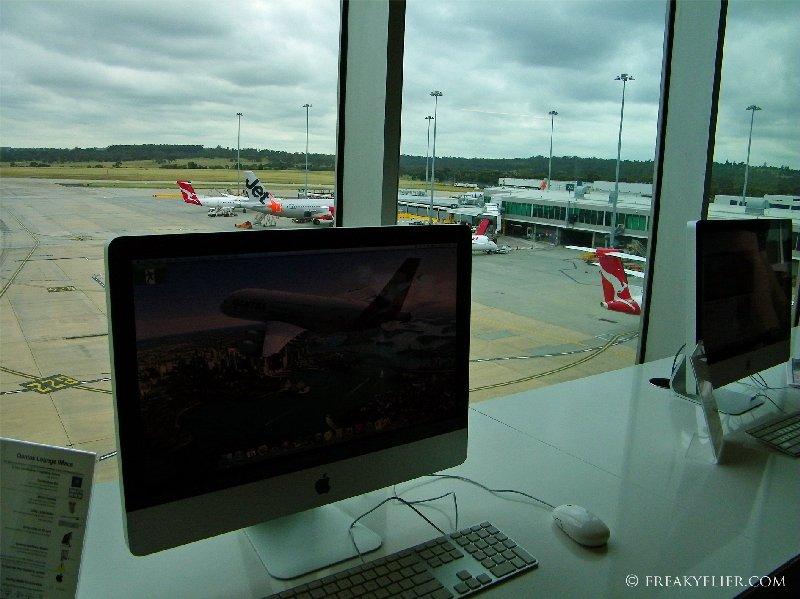 Apple iMac's available at The Qantas Club