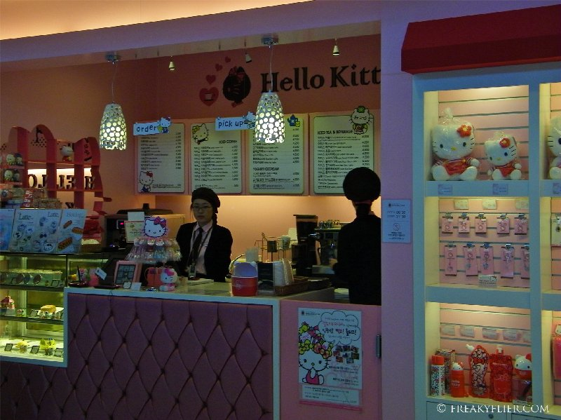 Hello Kitty Cafe at Inceon International Airport, Seoul South Korea