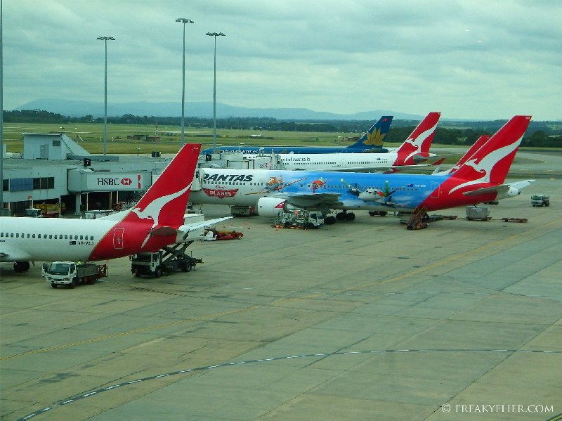 View from Melbourne Qantas Club Lounge