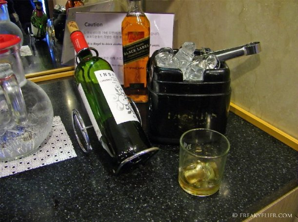 Red wine or a Johnny Walker Black Label scotch whiskey