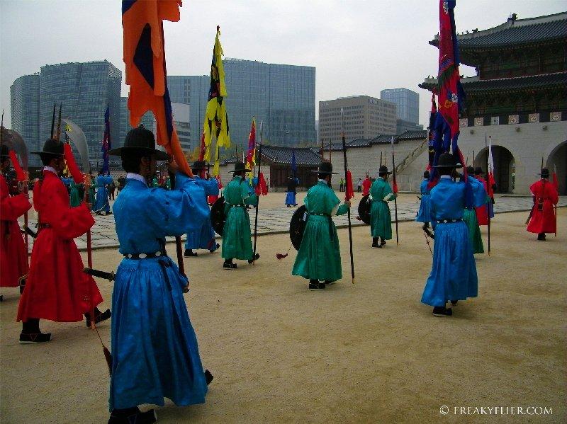 Changing of the Guard at Gyeongbokgung Palace, Seoul