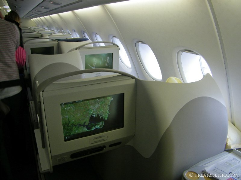 Last walk through the Business Class cabin on China Southern Airlines a380