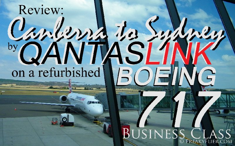 Review:Canberra to Sydney by QANTASLINK on a refurbished Boeing 717 - Business Class