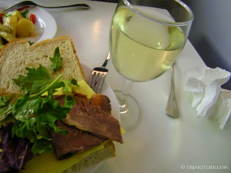 Food and drink at The Qantas Club Gold Coast