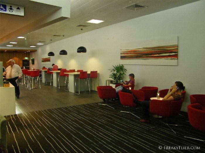 Seating area near the buffet at the QantasClub Gold Coast