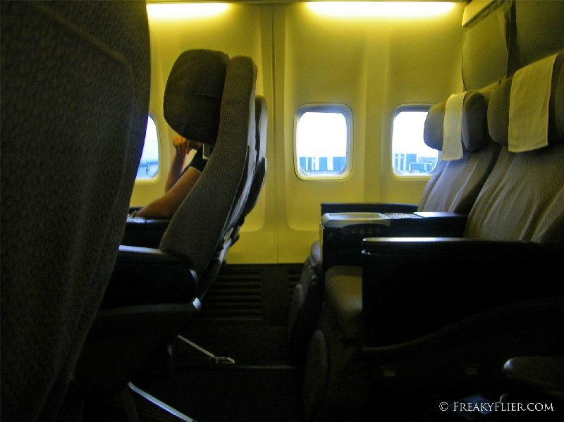 The Business Class cabin on Qantas' Boeing 737-800 - Wollongong