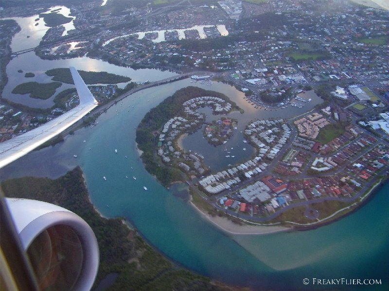 Ascending over the Gold Coast