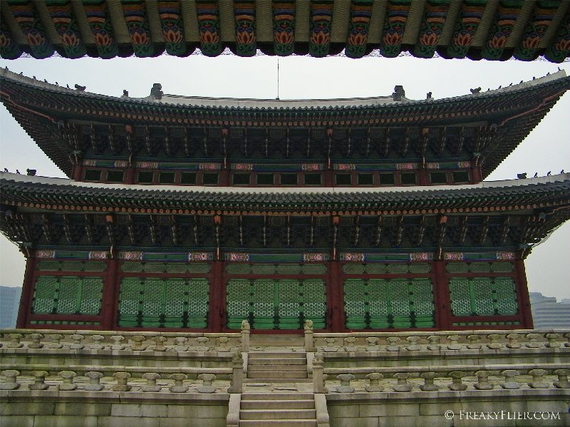 Geunjeongjeon - throne hall as seen from Gwanghwamun main gate
