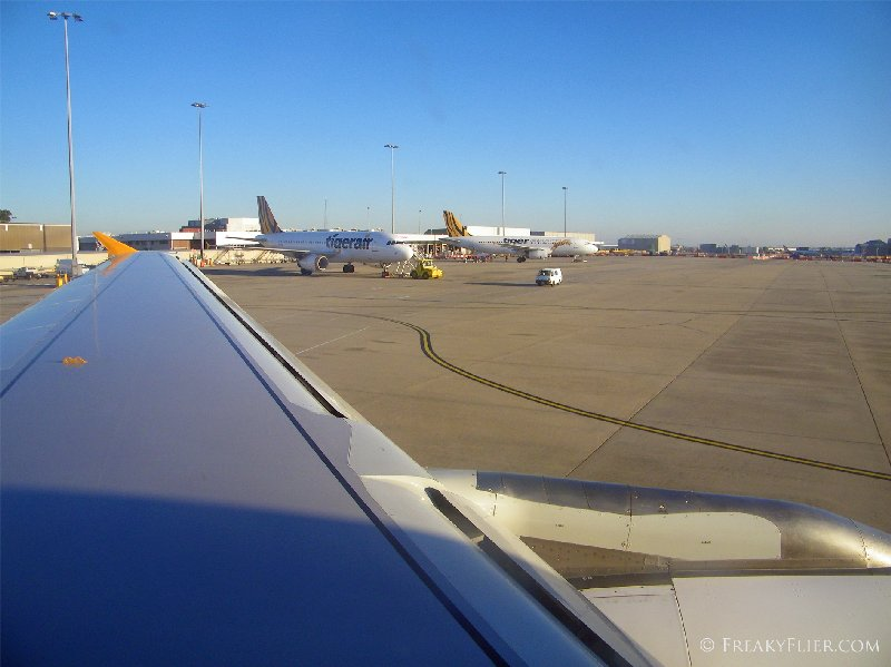 Taxiing to the runway at Melbourne's Tullamarine Airport