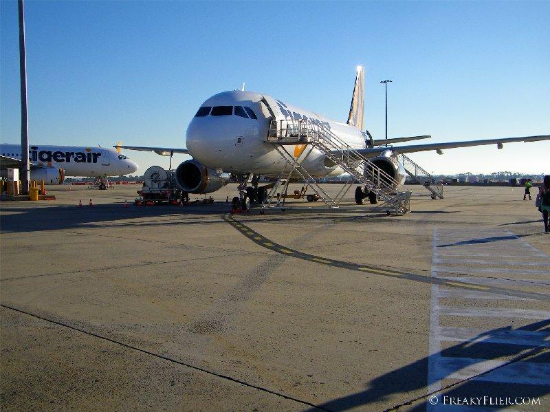 A Tigerair Airbus a320 at Melbourne Airport