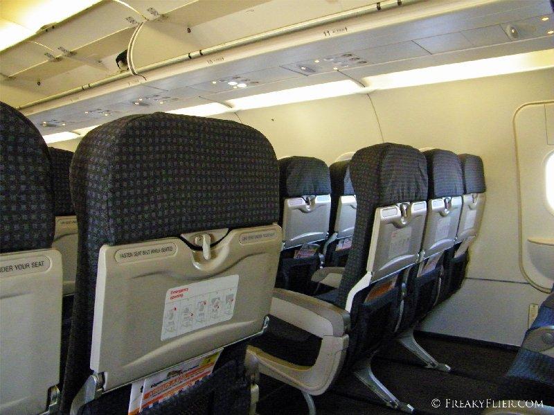 Row 12 an exit row seat on Tigerair's A320