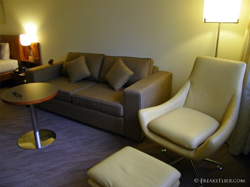 The large sitting area at the Novotel Canberra