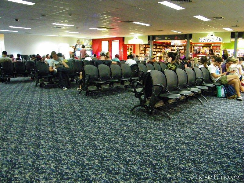 Inside terminal 4 at Melbournes Tullamarine Airport