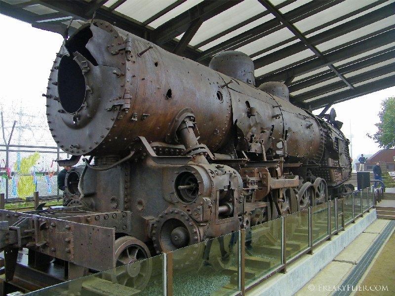 Bombed train at Imjingak Park