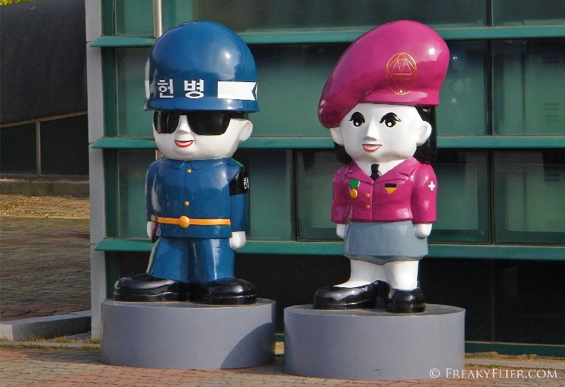 Character South Korean soldiers outside the Third Infiltration Tunnel