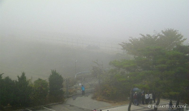 Bridge of Freedom in the fog at Imjingak