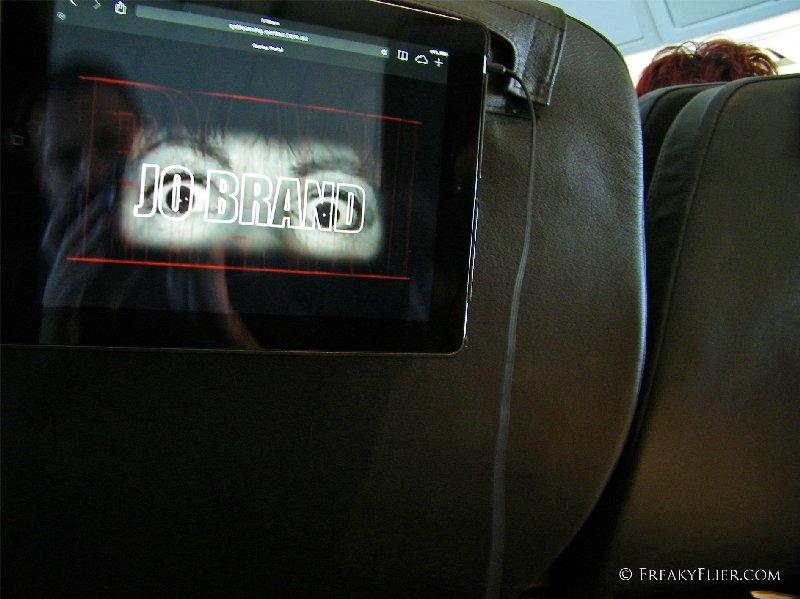 Jo Brand QStreaming on the iPad