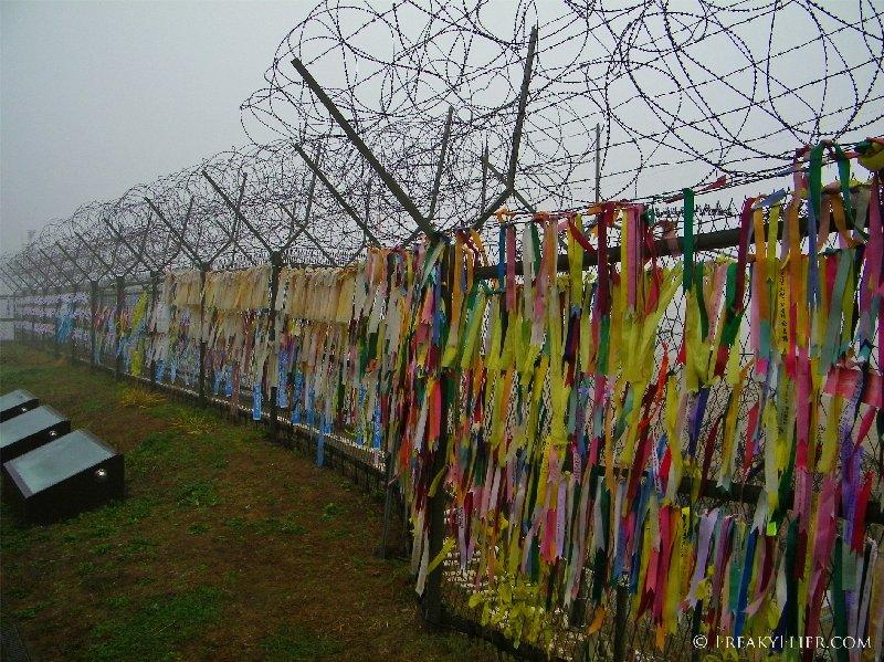 Ribbons of reunification at Imjingak
