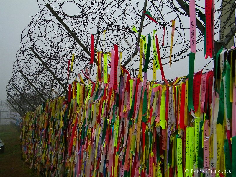 Ribbons from families at Imjingak Park