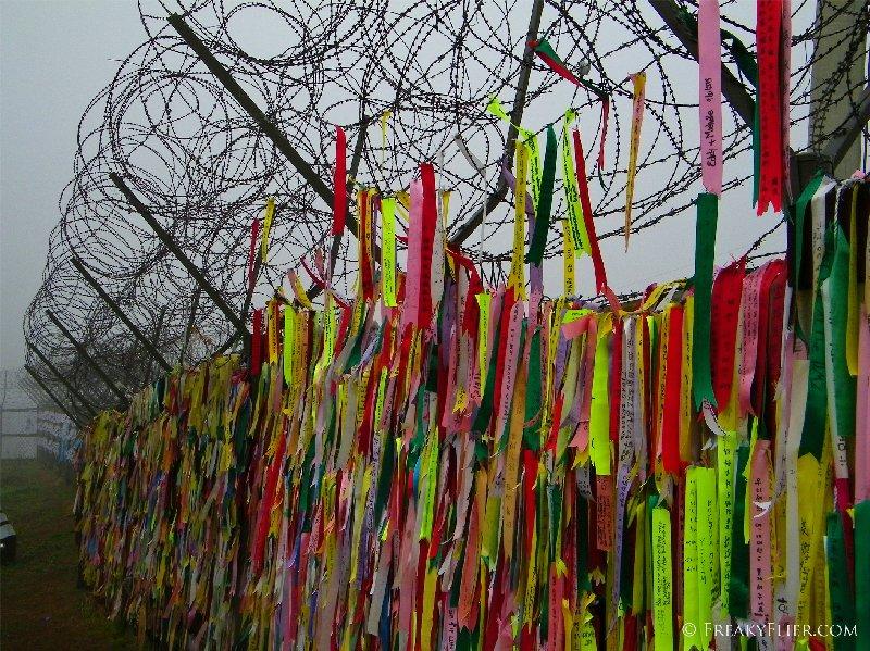 Ribbons from families at Imjingak Park