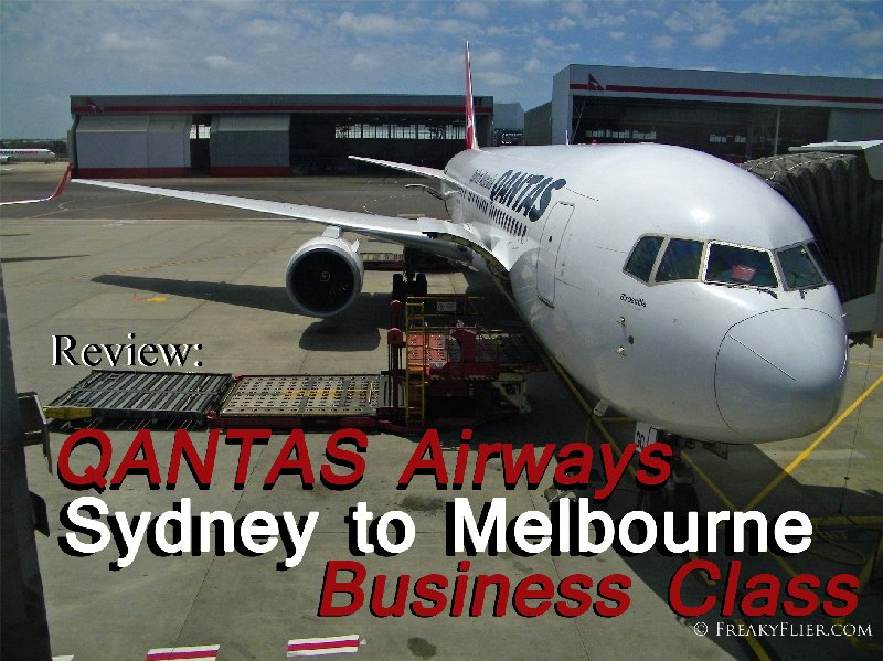 Review: QANTAS Airways Sydney to Melbourne Business Class