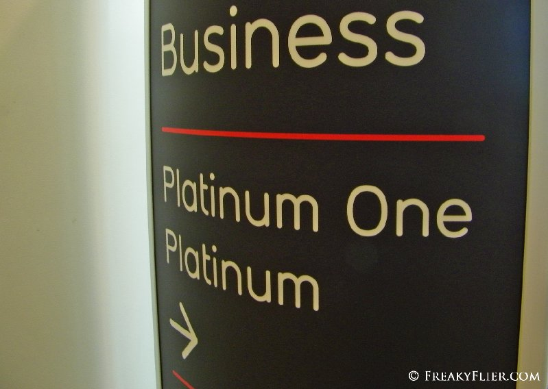 Premium boarding lane for Business CLass, Paltinum and Platinum One Frequent Flyers