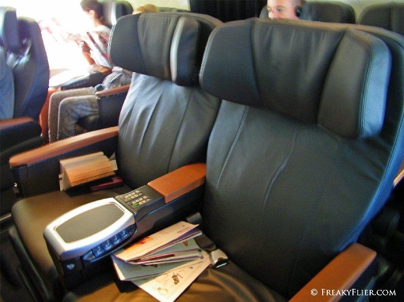 Business Class row D centre seats