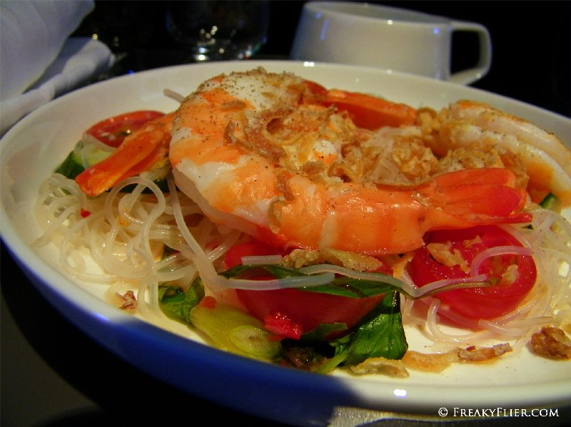 Business Class 'Snack' - Prawn and glass noodle salad