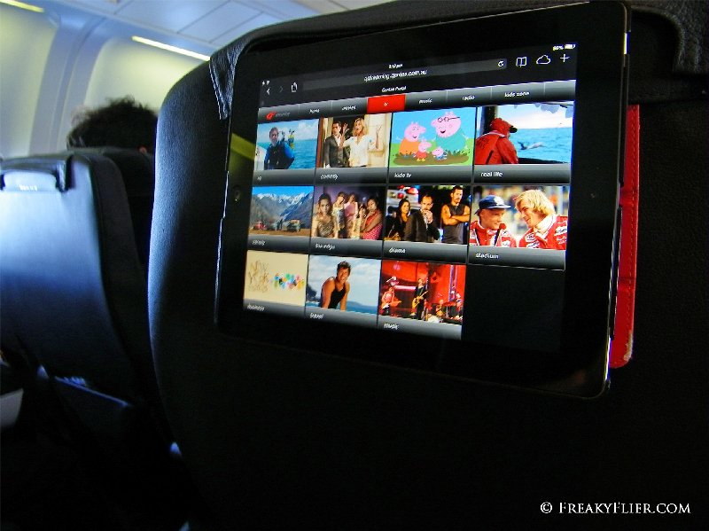 Qantas Entertainment iPads