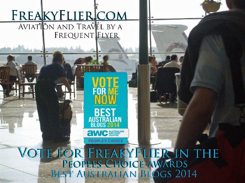 Vote for FreakyFlier in the Peoples Choice Awards - Best Australian Blog 2014