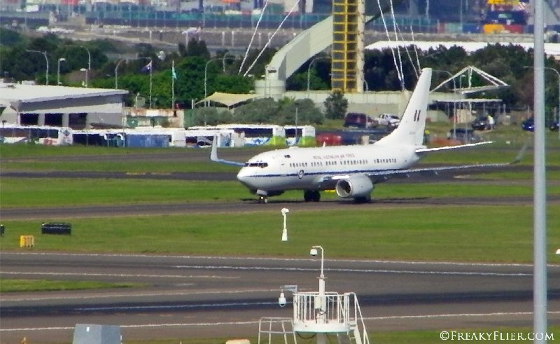 Royal Australian Air Force Boeing BBJ taxiing at Sydney Airport